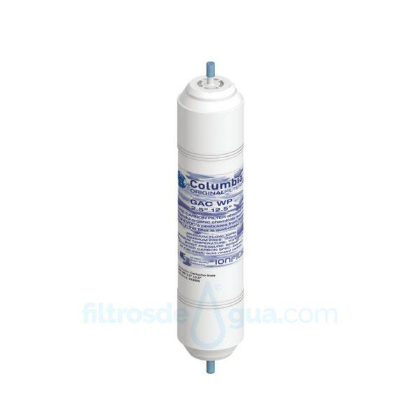 Recambio filtro de Agua Columbia Carbón GAC