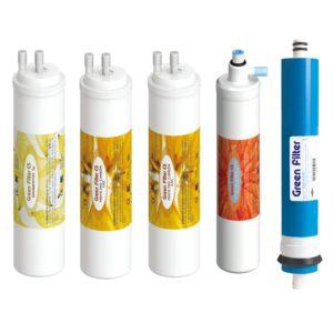 Pack de filtros de agua ósmosis inversa conexión CS Green Filter